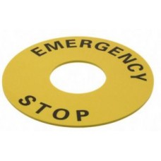 Табелка Emergency Stop 90mm A22Z-3476-1